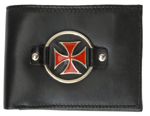 Pocket Fit Biker Genuine Leather Bi-fold