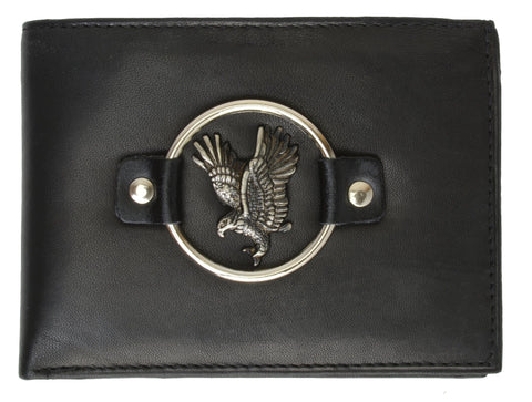 Eagle Biker Genuine Leather Bi-fold Man Wallet