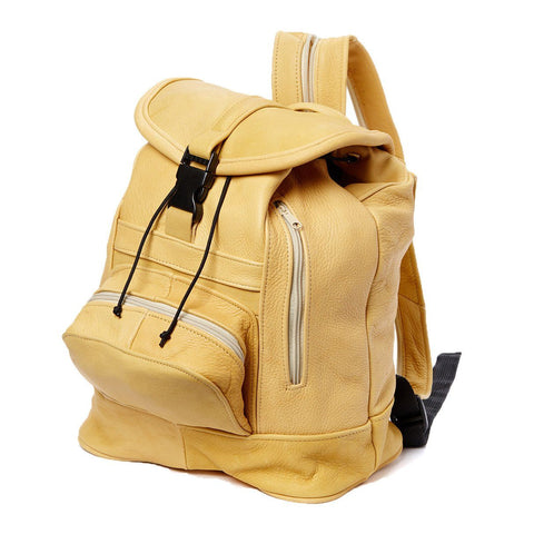 Genuine Leather Backpack with Convertible Strap Super Soft Leather Tan Color