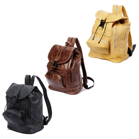 Genuine Leather Backpack with Convertible Strap Super Soft Leather Grey Color