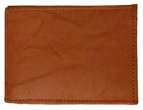 Leather Bi-Fold Wallet -Burgundy
