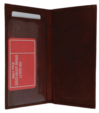 Hand Crafted Genuine Soft Leather Checkbook Cover - WholesaleLeatherSupplier.com  - 6