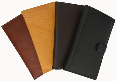 Genuine Leather Credit Card Holder Tan - WholesaleLeatherSupplier.com  - 4