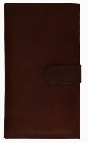 Genuine Leather Credit Card Holder Brown