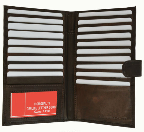 Genuine Leather Credit Card Holder Tan - WholesaleLeatherSupplier.com  - 10