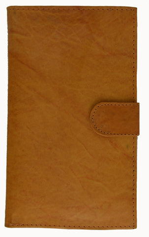 Genuine Leather Credit Card Holder Tan - WholesaleLeatherSupplier.com  - 2