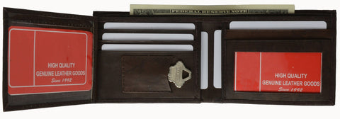 Men's Genuine Leather Bi-fold Wallet With a Key Pocket - WholesaleLeatherSupplier.com  - 5