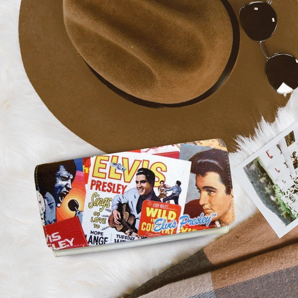 Licensed Elvis Presley Collage Wallet
