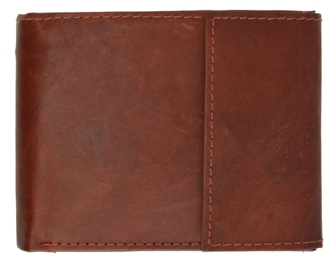 Men's Genuine Leather Bi-fold Safe Wallet - WholesaleLeatherSupplier.com  - 8
