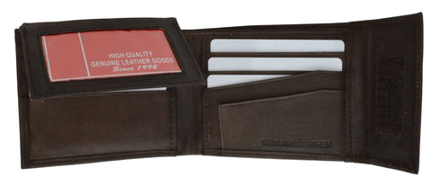Men's Genuine Leather Bi-fold Safe Wallet - WholesaleLeatherSupplier.com  - 3