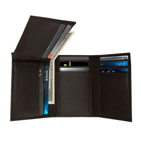 Men's Genuine Leather Trifold Wallet By AFONiE