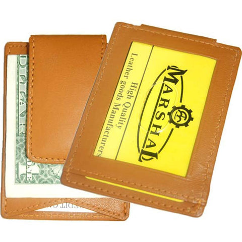 Leather Wallet with Strong Magnet Clip - WholesaleLeatherSupplier.com  - 2