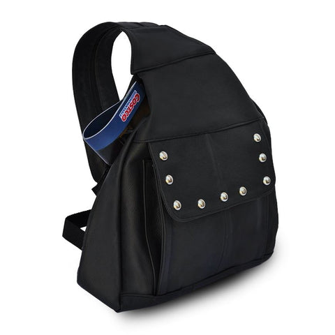 Compact Soft Leather Backpack