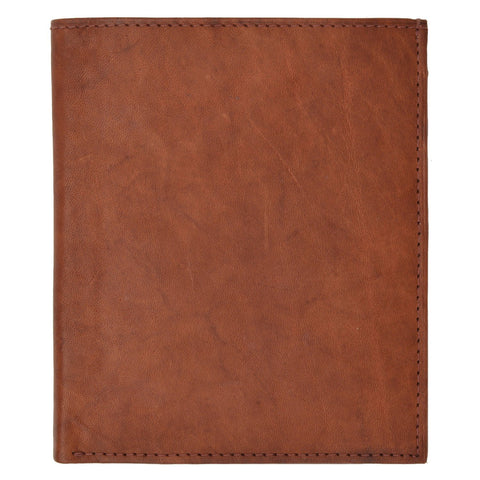 Large Leather Men Bifold Wallet
