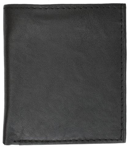 AFONiE Genuine Leather Men Bi-fold Wallet