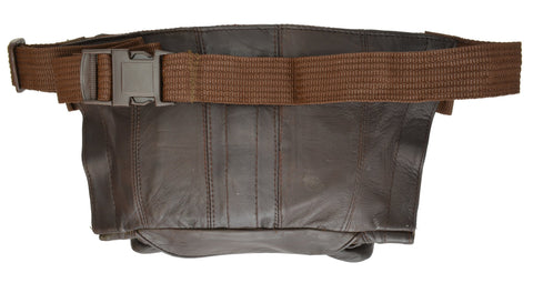 Leather Waist Pouch With Gun Space