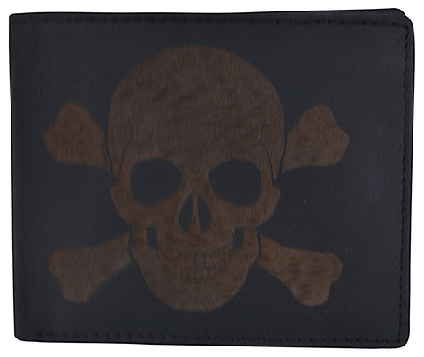 AFONiE Skull Stamped RFID Technology Men Wallet