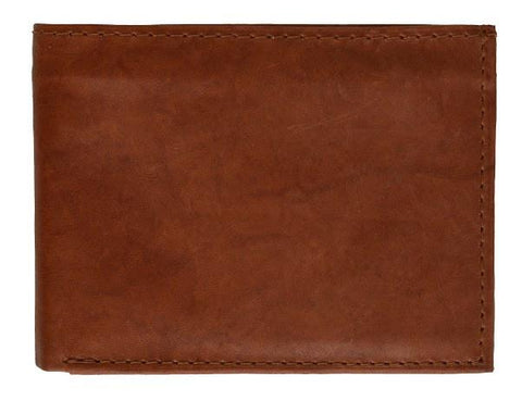 "Men's  Genuine Leather Bi-fold 9"" x 3.5"" Flip Wallet - Assorted Colors - WholesaleLeatherSupplier.com  - 7"