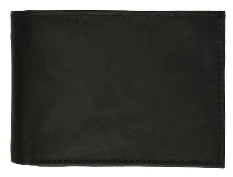 "Men's  Genuine Leather Bi-fold 9"" x 3.5"" Flip Wallet - Assorted Colors - WholesaleLeatherSupplier.com  - 9"