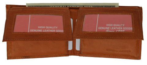 "Men's  Genuine Leather Bi-fold 9"" x 3.5"" Flip Wallet - Assorted Colors - WholesaleLeatherSupplier.com  - 13"