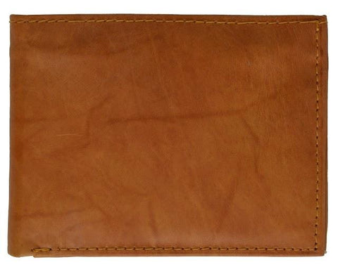 "Men's  Genuine Leather Bi-fold 9"" x 3.5"" Flip Wallet - Assorted Colors"
