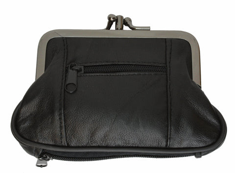 Leather Coins holder Wallet - WholesaleLeatherSupplier.com  - 3