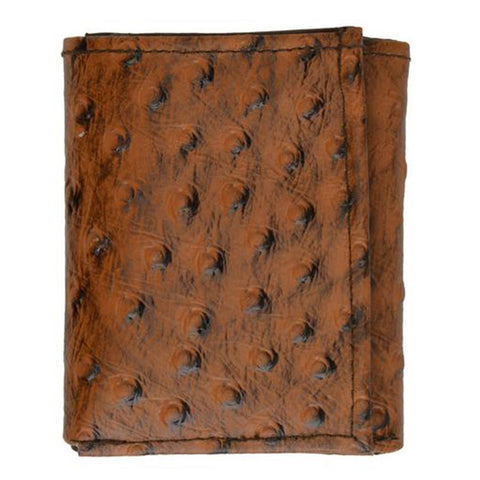 Ostrich Leather Wallet - Brown