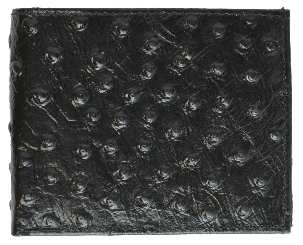 Men Leather Wallet with Hideaway Zippered Pocket - WholesaleLeatherSupplier.com  - 2