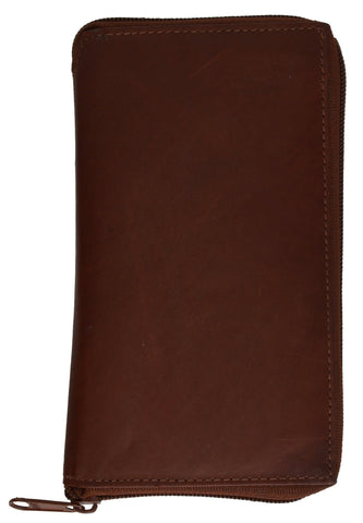 RFID Card Blocking Genuine Leather Organizer Wallet