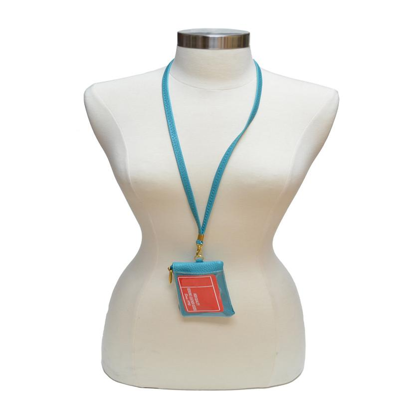 I.D. Holder with Neck Strap - WholesaleLeatherSupplier.com  - 1