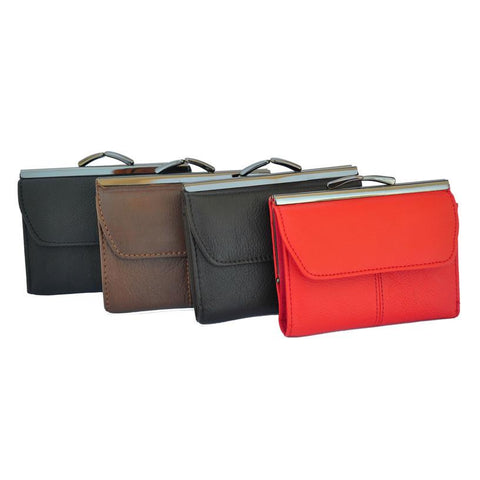 Kiss Lock Fashion Leather Wallet - WholesaleLeatherSupplier.com  - 8