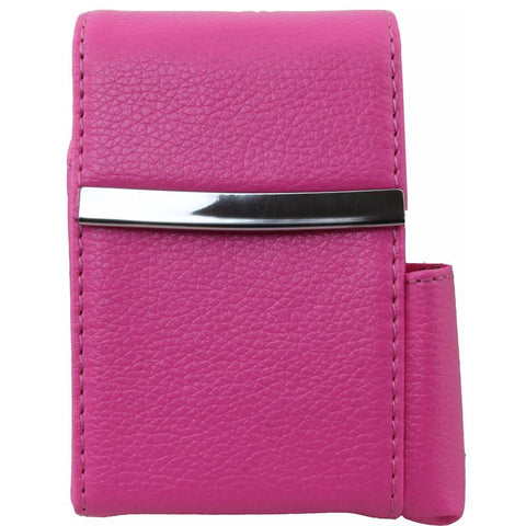 Luxury Genuine Leather Black Flip Top Cigarette Case - Assorted Color Available