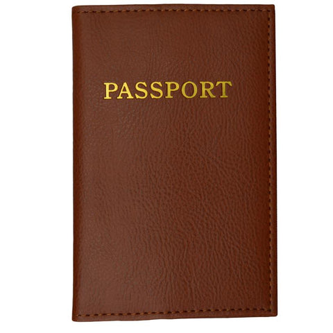 Passport Holder - Brown - WholesaleLeatherSupplier.com  - 1
