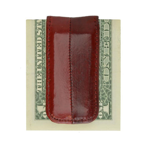 Money Clip Genuine Eel Skin