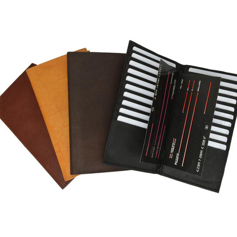 Unisex Genuine Leather Bi-Fold Credit Card Holder