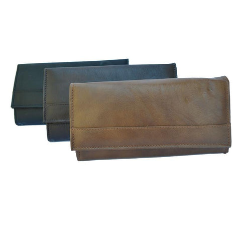 Super Soft Leather 7-Inch Framed Clutch Wallet - WholesaleLeatherSupplier.com  - 1