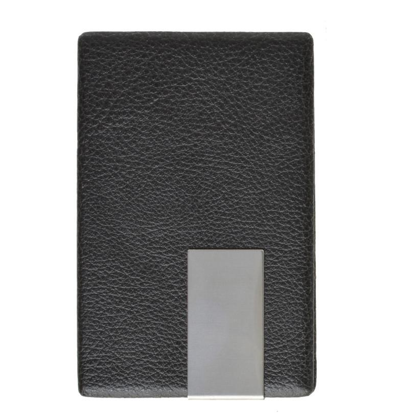 Vegan Leather Credit Card Holder with Magnetic Closure - WholesaleLeatherSupplier.com  - 1