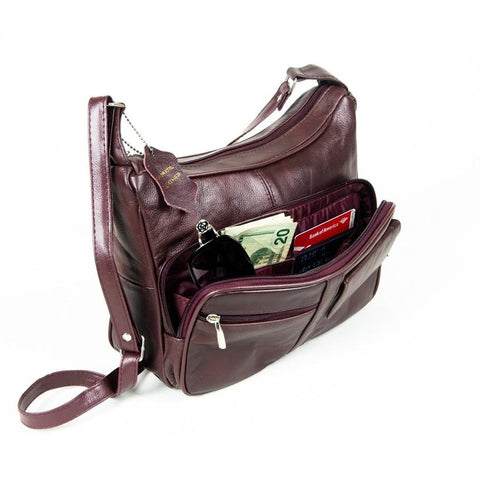 A Soft Genuine Leather Purse - Brown Color - WholesaleLeatherSupplier.com  - 7