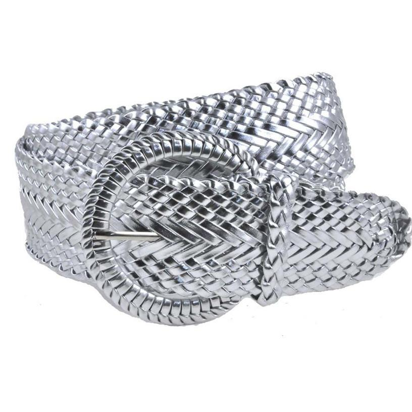 Genuine Leather Woven Braid Belt