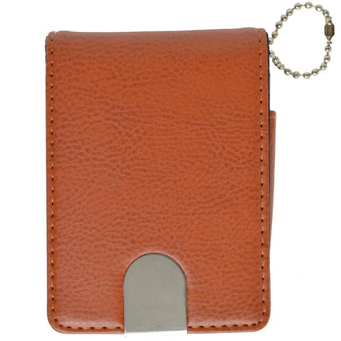 Vegan Leather Magnetic Closure Business Card Holder - WholesaleLeatherSupplier.com  - 1