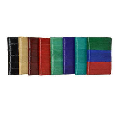 Wallet - Genuine Eel Skin Business Card Holder - WholesaleLeatherSupplier.com  - 1
