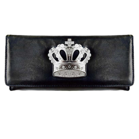 Super Soft Feel Women Crown Wallet - WholesaleLeatherSupplier.com  - 2