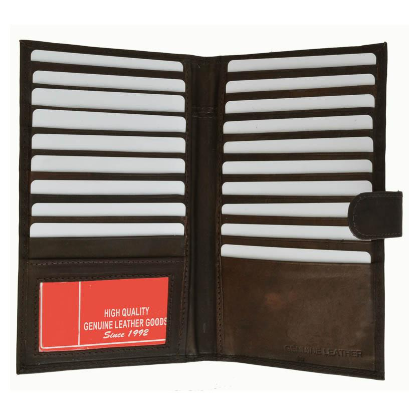 Genuine Leather Credit Card Holder Brown - WholesaleLeatherSupplier.com