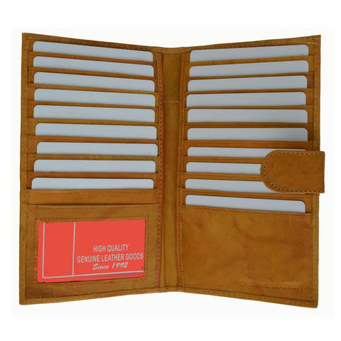 Genuine Leather Credit Card Holder Tan - WholesaleLeatherSupplier.com