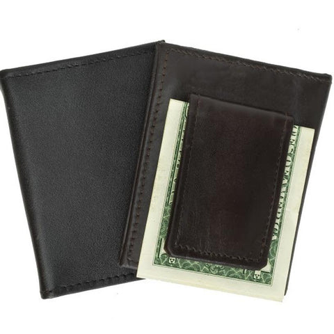 Leather Credit Card Holder and Money Clip - WholesaleLeatherSupplier.com  - 1