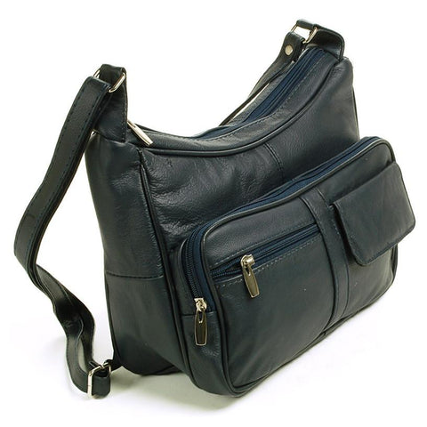 A Soft Genuine Leather Purse - Black Color