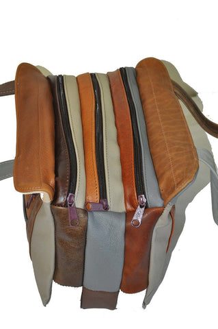 Fine Mexican Leather Shoulder Bags - Grey Color - WholesaleLeatherSupplier.com