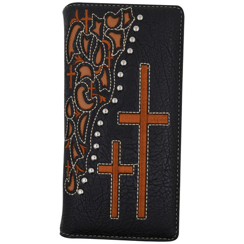 Cross Embroidery Checkbook/Credit Card Wallet