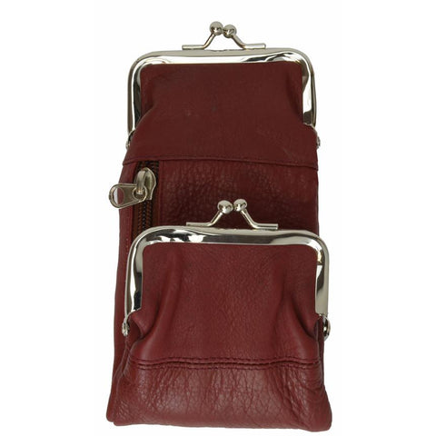 Rich Wine Leather Cigarette Case Wallet