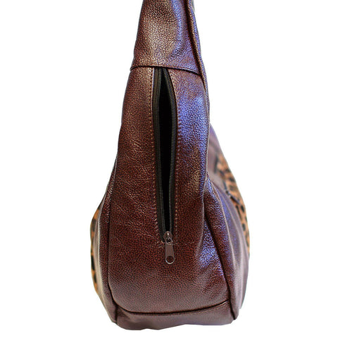 Brown Large Top Zip Hobo Genuine Leather - WholesaleLeatherSupplier.com  - 14